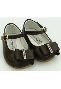 Sapato Em Couro Carambola - Feminino-Marrom