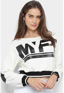 Blusa Moletom My Favorite Thing Básico Descolado Feminino - Feminino-Gelo