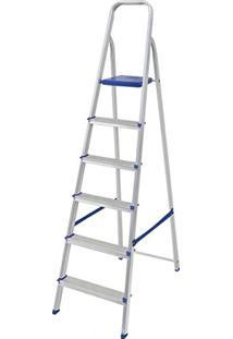 Escada Doméstica Dobrável 6 Degraus Em Alumínio 5104 - Mor