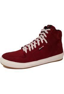 Sapatênis Galway Cano Médio Sneakers Vinho