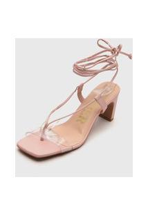 Sandália Amber Amarração Rosa