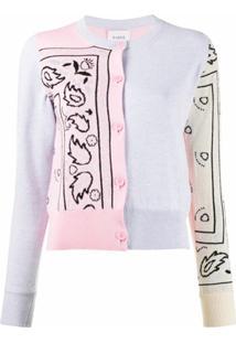 Barrie Cardigan Com Padronagem Bandana - Rosa