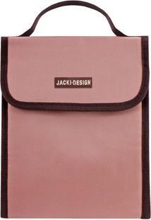 Bolsa Térmica Essencial Com Tag - Rosa Pastel & Marrom