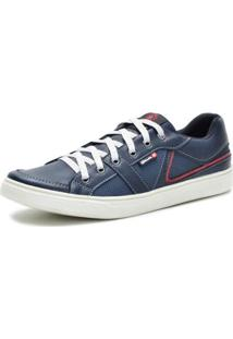 Sapatênis Casual Masculino Sintético Galway - Masculino-Azul