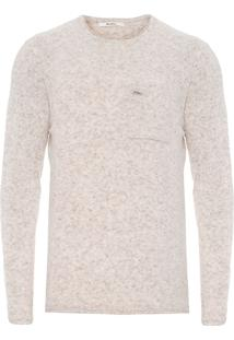 Blusa Masculina Tricot Mousse - Bege