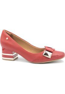 Sapato Ramarim Scarpin Laço Verniz Vermelho
