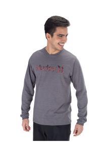 Camiseta Manga Longa Hurley Especial One&Olnly - Masculina - Cinza Escuro