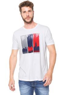 Camiseta Calvin Klein Jeans Bandeira Branca
