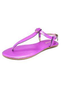 Sandália Teodora'S Em Couro Metalizado S1911 Pink