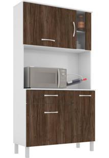 Cozinha Compacta Viena I 4 Pt 1 Gv Branco E Carvalho
