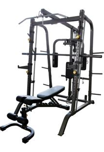Estação De Musculação Gonew Pro 5.0 Limited C/ Rack E Banco - Unissex