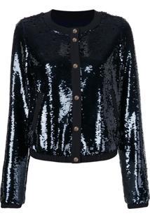 Emporio Armani Sequin Embroidered Jacket - Azul