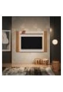 Painel Para Tv Até 60 Polegadas Aurora Com Led Freijó E Off White