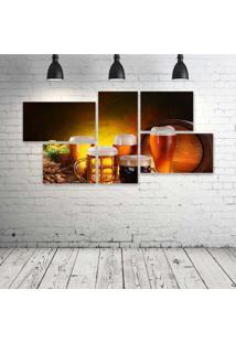 Quadro Decorativo - Drink-Beer - Composto De 5 Quadros - Multicolorido - Dafiti