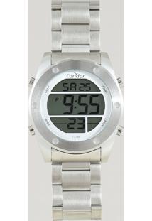 Relógio Digital Condor Masculino - Cobj3463Ad3K Prateado - Único