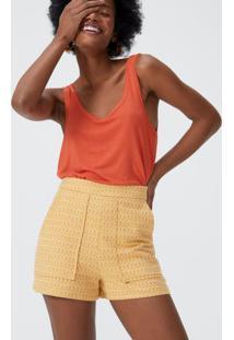 Shorts Algodão Bolsos