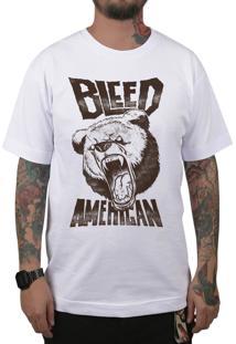 Camiseta Bleed American Killer Bear Branca