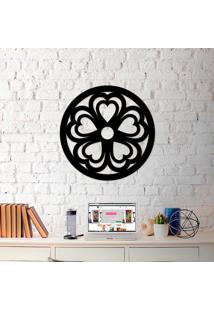 Escultura De Parede A Laser Mandala Heart