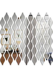 Espelho Love Decor Decorativos Abstrato ÚNico - Prata - Dafiti