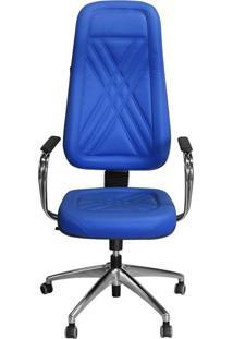 Cadeira Pethiflex Pp-01Gcbc Giratória Couro Azul