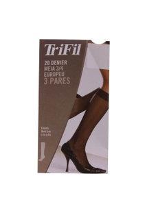 Kit Com 3 Meias 3/4 Europeu Fio 20 | Trifil | Bege | U