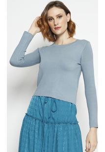Blusa Lisa Em Tricã´- Azulla Chocolãª