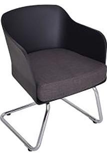 Cadeira Ninho- Preta & Prateada- 77X61X58Cm- Falfalkk