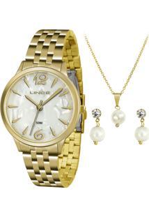Kit Relógio Feminino Lince Lrgh047L Kt90B2Kx
