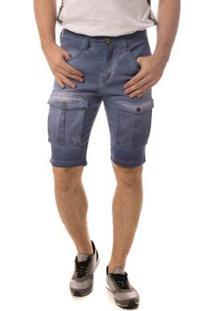 Bermuda Jeans Osmoze Middle Masculina - Masculino-Marinho