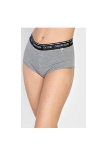 Calcinha Calvin Klein Underwear Hot Pant Ck One Cinza
