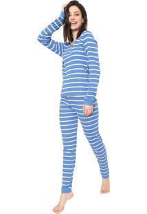 Pijama Bela Notte Listrado Azul