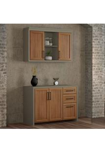 Cozinha Compacta Camponesa 4 Pt 3 Gv Freijó E Cinza