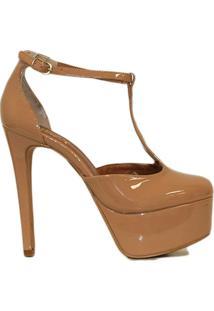 Scarpin Liszy High Heels Tirab Feminino - Feminino-Nude
