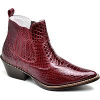 2ee4af4ef8 Bota Top Franca Shoes Country Masculino - Masculino-Vermelho