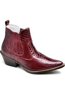 Bota Top Franca Shoes Country Masculino - Masculino-Vermelho
