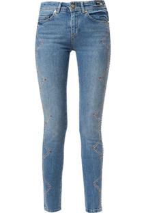 Versace Jeans Couture Calça Jeans Skinny Com Aplicações - Azul