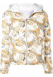 Versace Jeans Couture Jaqueta Matelassê Com Estampa De Logo - Dourado