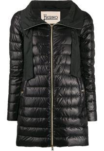 Herno Long Puffer Jacket - Preto
