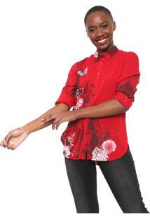 Camisa Desigual Fragancy Vermelha
