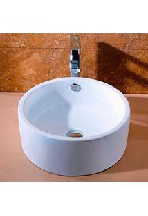 Cuba De Apoio Banheiro Lavabo Sobrepor Redonda De Porcelana Cerâmica Louça C286 - Premierdecor