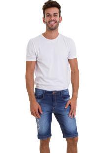 Bermuda Versani Jeans Destroyed Premium Escura