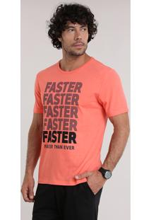 """Camiseta Ace """"Faster"""" Coral"""