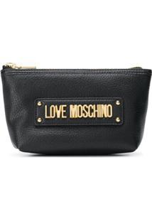 Love Moschino Carteira Com Logo - Preto
