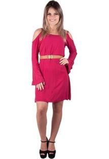Vestido Banna Hanna Carmim - Feminino-Coral