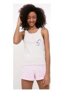 Pijama Regata Estampa Unicórnio