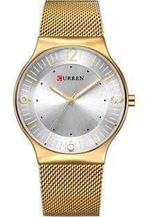Relógio Curren Analógico 8304 Dourado