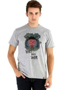 Camiseta Ouroboros Manga Curta Freddy Krueger - Masculino-Cinza