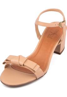 Sandalia Trivalle Shoes Bege Claro Com Laco