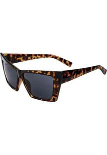 Óculos De Sol Ray Flector Vtg583 Co Feminino - Feminino-Marrom+Preto