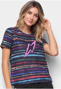 Camiseta Cantão Espectro Manga Curta Feminina - Feminino-Preto
